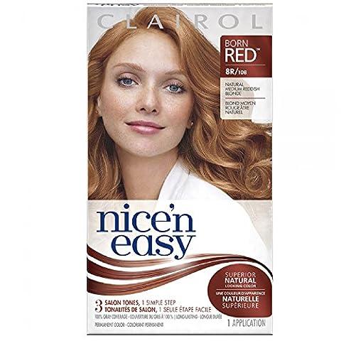Clairol Nice 'n Easy Permanent Color, 8R/108 Natural Medium Reddish Blonde 1 ea (Pack of 3)