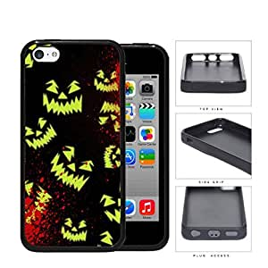 Halloween Scary Face Glow And Blood Splatter Rubber Silicone TPU Cell Phone Case Apple iPhone 5c
