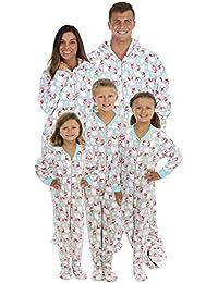 Family Matching Polar Bears Onesie PJS Footed Pajamas