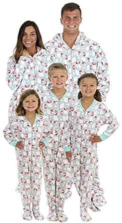 SleepytimePjs Family Matching Polar Bear Fleece One Piece Footed Pajamas (STM17-POLAR-BEAR-6M)