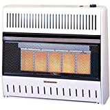 ProCom Vent-Free Dual Fuel Infrared Radiant Wall Heater - 5-Plaque, 28,000 BTU