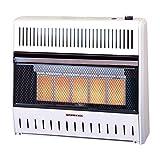 ProCom Vent-Free Dual Fuel Infrared Radiant Wall Heater - 5-Plaque, 28,000 BTU