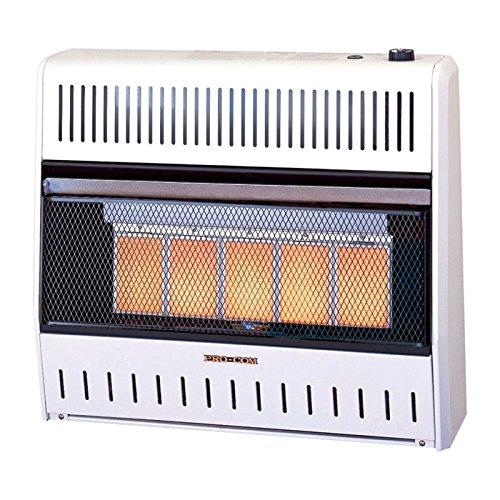 Vent Procom (ProCom Vent-Free Dual Fuel Infrared Radiant Wall Heater - 5-Plaque, 28,000 BTU)