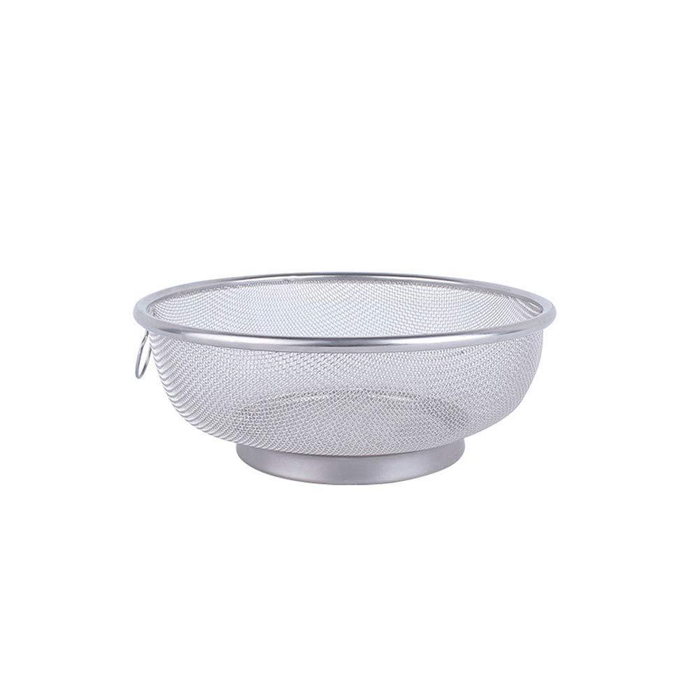 arroz apto para lavavajillas Tama/ño libre 18 cm. colador de metal para cocina pasta coladores de acero inoxidable con anillo para colar Colador frutas verduras