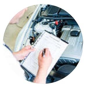 alfombrilla de ratón mecánico con lista de comprobación en el taller de reparación de automóviles - ronda - 20cm