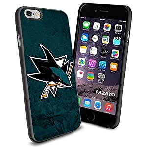 NHL HOCKEY San Jose Sharks Logo, Cool iPhone 6 Smartphone Case Cover Collector iphone TPU Rubber Case Black