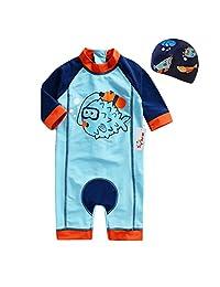 Baby Swimsuits Swim Bodysuit 2 Pieces Swimwears (height 80-130cm)