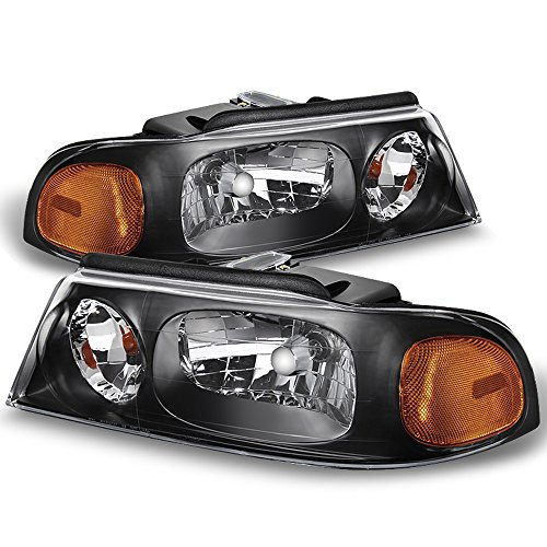 (ACANII - For 1998 1999 2000 2001 2002 Lincoln Navigator Headlights Headlamps 98-02 Driver + Passenger Side)