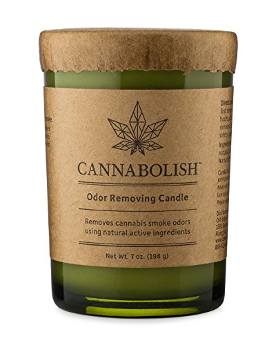 Cannabolish Cannabis Smoke Odor Eliminating Candle, 7 oz, Natural Ingredients (Weed Candle Wax)