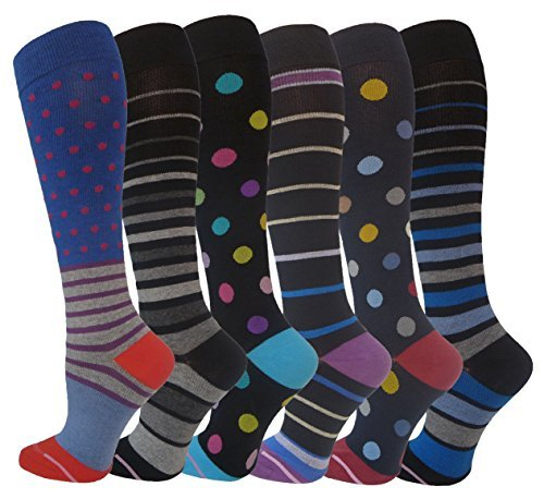 8 Pair Appliance (Ladies 6 Pair Pack Compression Socks (Fun & Fabulous) by Dr. Motion by Dr. Motion)