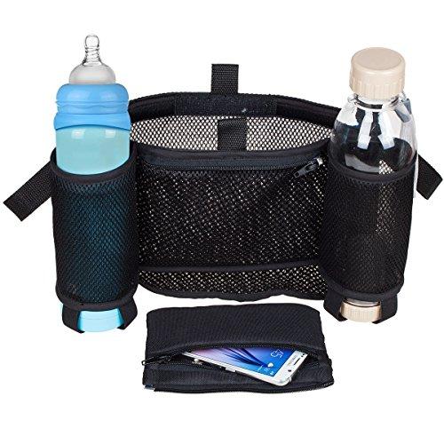 G4Free Grab & Go Stroller Organizer,Universal Stroller and Buggy Organizer Bag(mesh net-black) Image