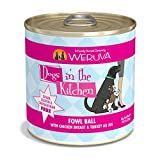 Weruva Dogs In The Kitchen, Fowl Ball With Chicken Breast & Turkey Au Jus Dog Food, 10Oz Can (Pack Of 12)