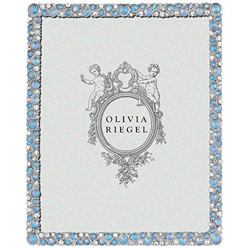 SILVER MCKENZIE Austrian Crystal & Blue Opaline 8x10 frame by Olivia Riegel - 8x10 by Olivia Riegel