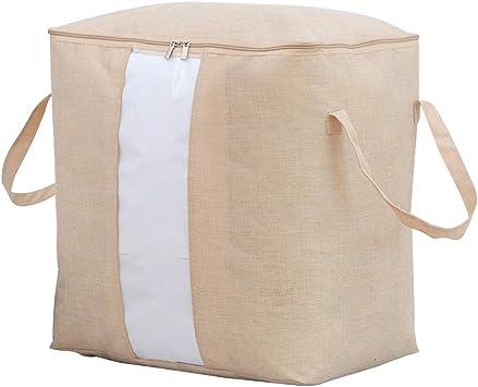 Algodón Bolsa De Almacenamiento Grande -asas De Transporte Y Cremallera,bolso Organizador Reutilizable Para Manipular Artículos Grandes-a 46x48x28cm: Amazon.es: Bricolaje y herramientas