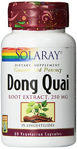 Solaray Dong Quai Root Extract, 250 mg, 60 Count