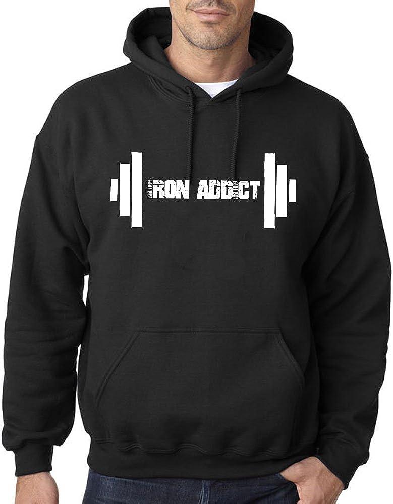 Tshirt Rocket Iron Addict Barbell Weightlifter Bodybuilder Weightlifting Hoodie Sweatshirt