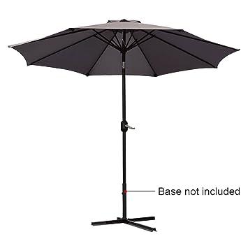 Amazon.com : Quictent 9FT Patio Umbrella Tilt Aluminum Outdoor Market Umbrella With Crank and Wind Vent 100% Polyester-4 Colors (Brown) : Patio, ...