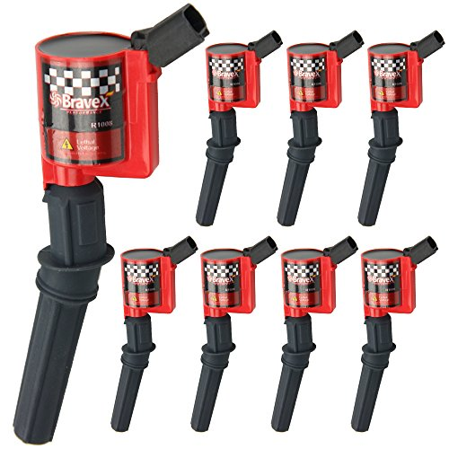 - Bravex Super High Energy Ignition Coils for Ford F-150 F-250 F-350 4.6L 5.4L V8 DG508 DG457 DG472 DG491 CROWN VICTORIA EXPEDITION MUSTANG LINCOLN MERCURY Set of 8 (15% More Energy)