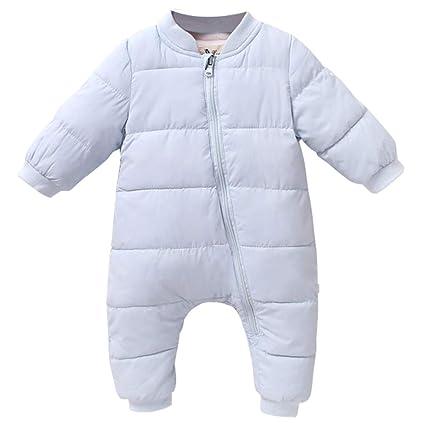 Tute da Neve Bambino Inverno Pagliaccetti Body con Cerniera Jumpsuit  Abbigliamento 0-3 Mesi 5b9d286f3972