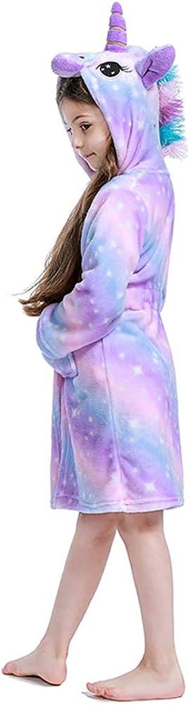 Flannel Hooded Bathrobe-Unicorn Gifts Premium Soft Unicorn Robe for Girls