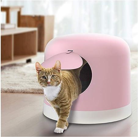 La Caja De Arena para Gatos Grande Se Puede Separar para Usar En Inodoros para Gatos A Prueba De Salpicaduras, Azul/Polvo/Blanco ARENERO-Fácil de Limpiar (Color : Pink): Amazon.es: Hogar