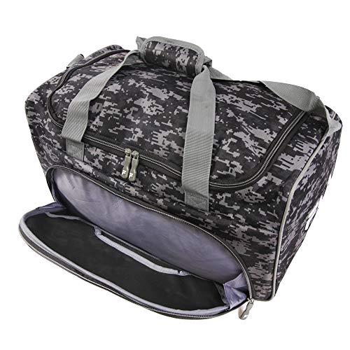 51CrBpidy1L - Fila Source Sm Travel Gym Sport Duffel Bag, Black Digi Camo