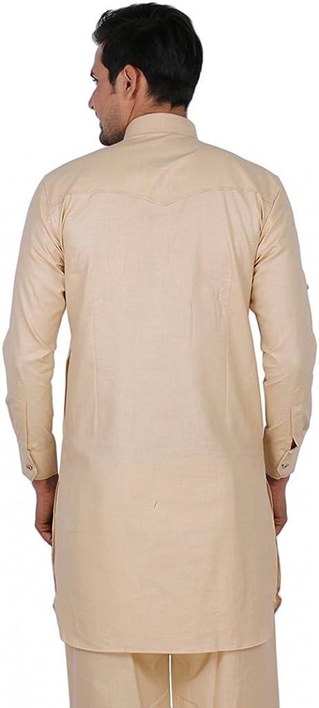 ROYAL Mens Linen Pathani Suit