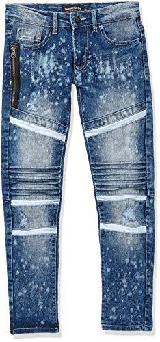 Southpole Kids Jeans - Southpole - Kids Boys Big Slim Stretch Biker/Moto Denim Pants, Snow Blue 1, 8