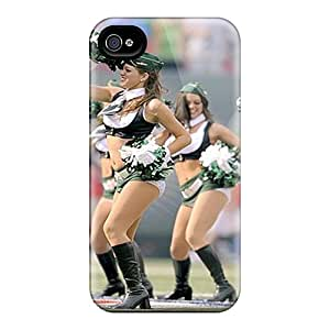 Anti-scratch And Shatterproof New York Jets Phone Case For Iphone 4/4s/ High Quality Tpu Case