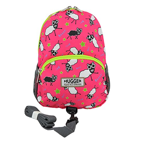 Hugger Totty Tripper little kids and Toddler Backpack with Anti-lost Harness Strap (Sheepish Lee)