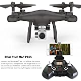 Helicopter Toys Victorcn Altitude Hold SMRC S10W-G 120°Angle Quadcopter Drone 720P Camera Helicopter (Black)