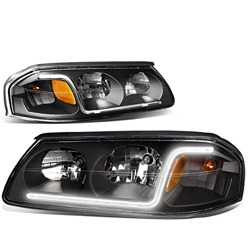 For Chevy Impala Pair of Black Housing Amber Corner Headlight OE Replacement Lamp 8th Gen