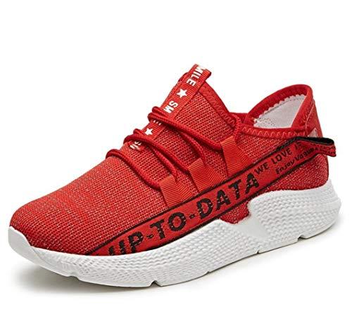 assorbenti Rosso sportive Scarpe ginnastica NANXIE donna da Scarpe Scarpe scarpe traspiranti donna casual sportive dimensioni Tessuto da traspirante da Grandi Nuove qqHWURnTr