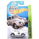 Hot Wheels 2014, Volkswagen Beetle. Herbie The Love Bug. HW Workshop 191/250. 1:64 Scale.