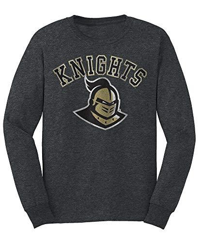 Elite Fan Shop NCAA Men's Central Florida Golden Knights Long Sleeve T Shirt Charcoal Vintage Central Florida Golden Knights Charcoal XX Large