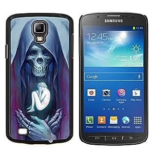 """Be-Star Único Patrón Plástico Duro Fundas Cover Cubre Hard Case Cover Para Samsung i9295 Galaxy S4 Active / i537 (NOT S4) ( Ángel de la Muerte Huesos Humanos cráneo"""" )"""