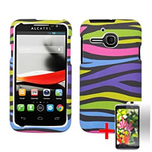 ALCATEL ONE TOUCH EVOLVE COLORFUL ZEBRA ANIMAL COVER SNAP ON HARD CASE + FREE SCREEN PROTECTOR from [ACCESSORY ARENA]