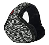 Warm-U Winter Is Coming – Get Your Ear Warmer Ready – Back Worn Stylish Cozy Earmuff – Fit On Your Head – Fit In Your Pocket - Woolen Yarn Plaid