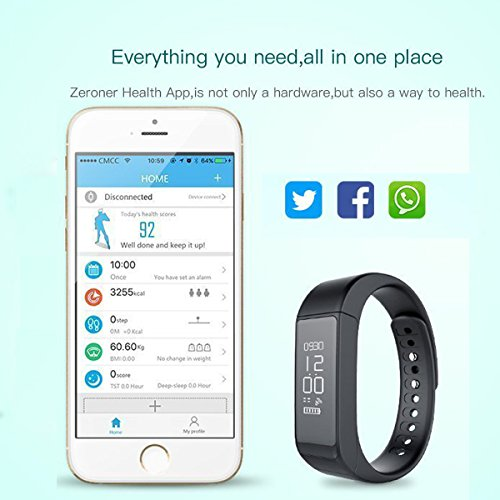 Fitness Tracker Wireless Runnning Pedometer with OLED Touch Screen Bluetooth Sleep Monitor Wristband Activity Tracker Waterproof Calorie Counter for iPhone Android Smartphones