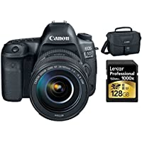 Canon EOS 5D Mark IV 30.4MP DSLR Camera + EF 24-105mm f/4L IS II USM Lens 128GB Memory Card Bundle