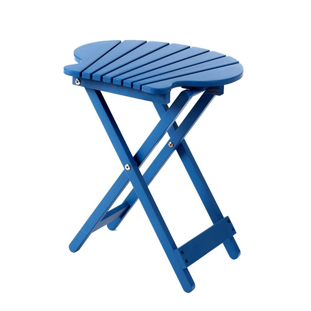 ZJM- Fan-Shaped Flower Shelf Foldable Flower Pot Rack (Color : Blue)