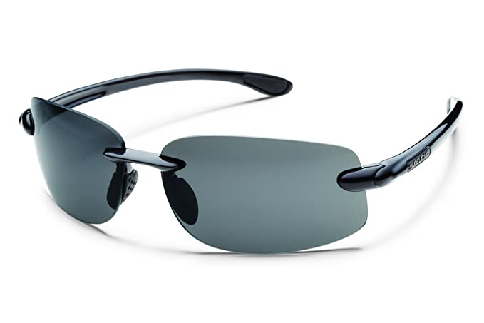 1c4012443b Amazon.com  Suncloud Optics Excursion Sunglasses (Black with Gray Polarized  Lens)  Clothing