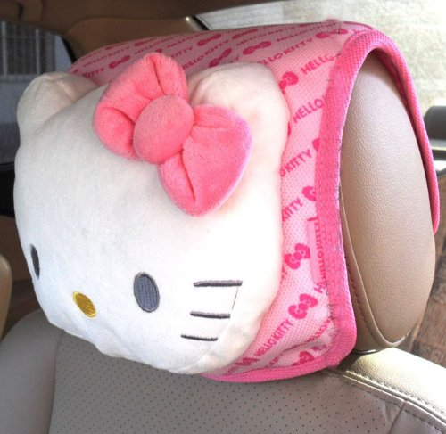 Hello Kitty Car Headrest Cushion (Butterfly Pattern)