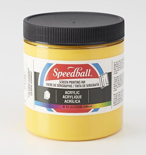 Speedball 004623 Acrylic Screen Printing Ink, 8 fl. oz, Medium Yellow by Speedball