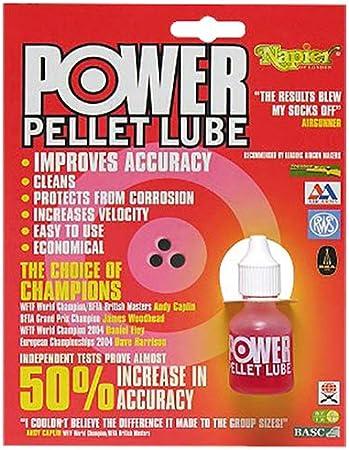 Napier Power Pellet Lubricante 10ml/25ml - Escopetas Rifle Aire Mejora Precisión Pistola Aceite