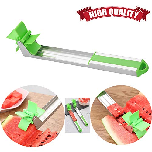 Watermelon Windmill Slicer Cutter Stainless Steel Fruit and Vegetable Cutting Knife Tools Machine