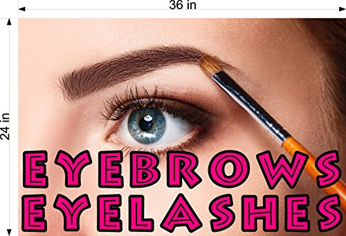 Cmyads.net Eye Brows III Eyebrows Eyes Woman Extensions Cosmetic Perforated Window removing hair See Though Salon Poster Vinyl 70/30 tweezers thin out shape waxing Horizontal (36