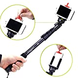Yunteng C-188 Extendable Handheld Selfie Tripod Monopod Adapter with Phone Clip for iPhone 5S 6 Samsung Huawei Lenovo Nokia Sony BlackBerry Phone DSLR Camera Gopro 1 2 3 3+ 4