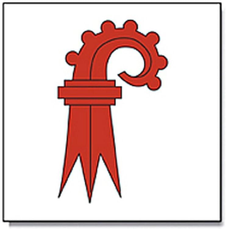 Flagge//Fahne BASEL Land Landschaft schweizer Kanton Schweiz Staatsflagge//Landesflagge//Hissflagge mit /Ösen 90x90 cm sehr gute Qualit/ät