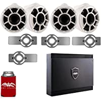 Wet Sounds for Mastercraft 2007 & Up - Two Pairs Of REV10 10 White Tower Speakers with Adapters & SD2 Amplifier